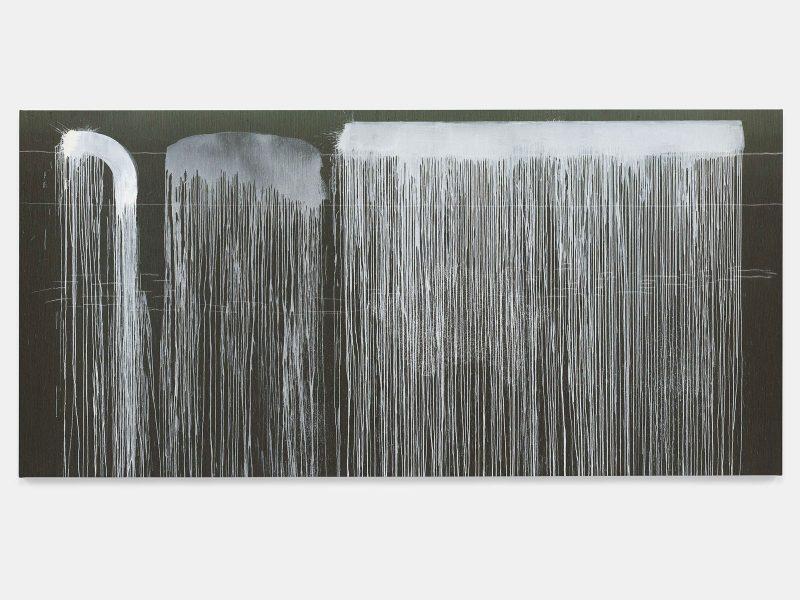 Pat Steir, The Barnes Series VII, 2018. Oil on canvas. 86 3/8 x 180 inches. © Pat Steir.