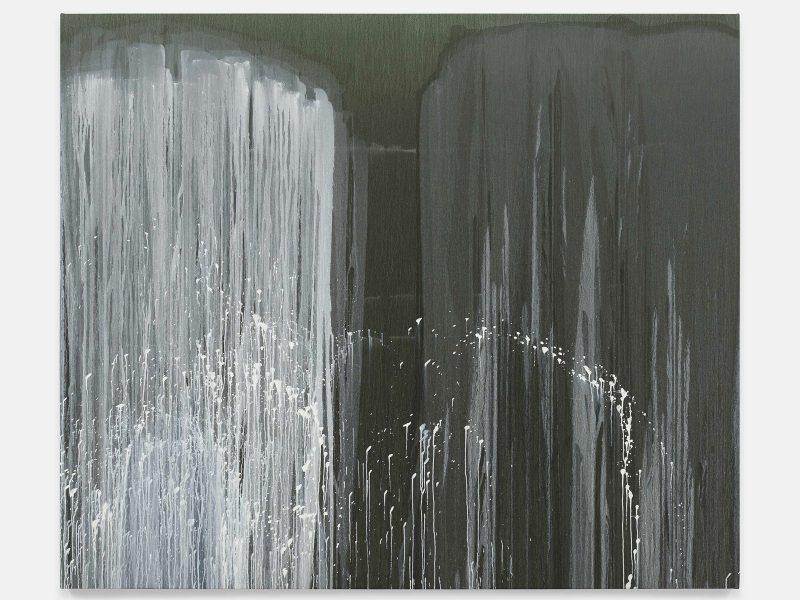Pat Steir, The Barnes Series VIII, 2018. Oil on canvas. 86 3/8 x 102 1/4 inches. © Pat Steir.