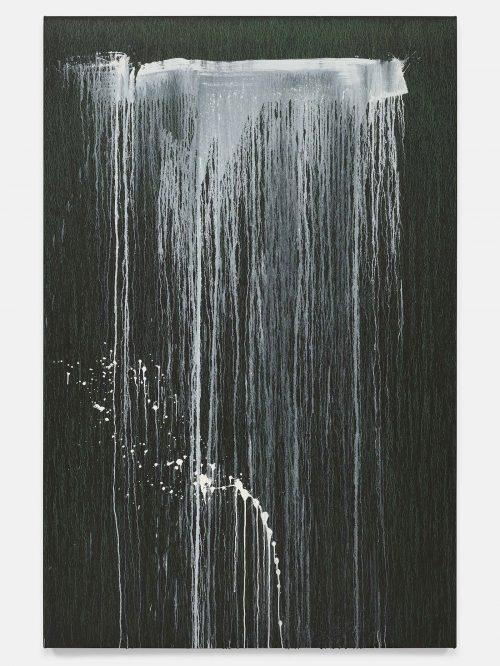 Pat Steir, The Barnes Series X, 2018. Oil on canvas. 86 3/8 x 56 1/8 inches. © Pat Steir.