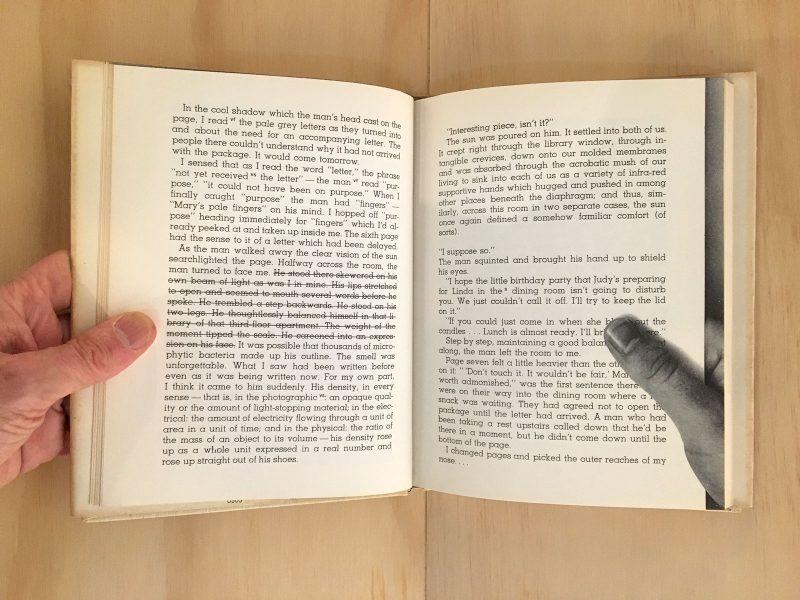 """Work Rain,"" Madeline Gins. From ""Writers Making Books"" at Arcadia University."