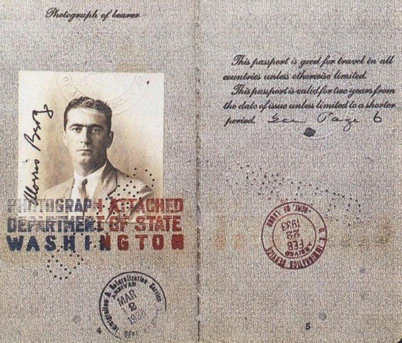Moe Berg's Passport