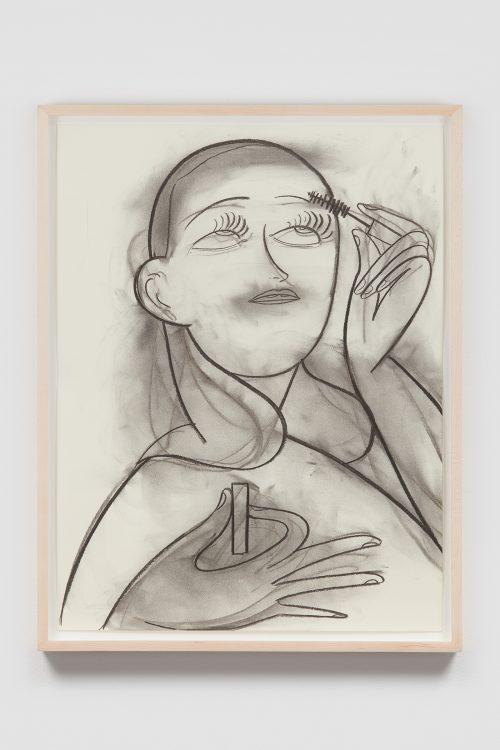 "Grace Weaver, ""Voluminous"". Charcoal on paper. 24 x 18"". 2018. © Grace Weaver. Courtesy Kapp Kapp, Philadelphia; and James Cohan, New York. Photo credit: Christopher Burke Studio"