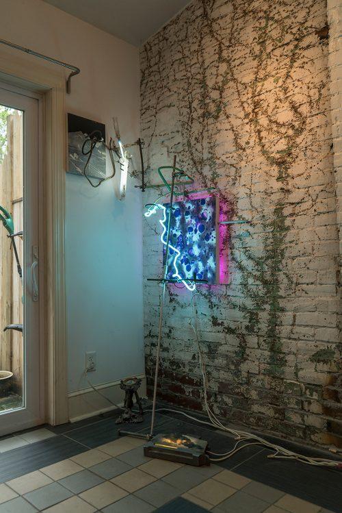 John Schlesinger, Untitled Installation, Site Unseen, 2019. Photo courtesy Miles Orvell.