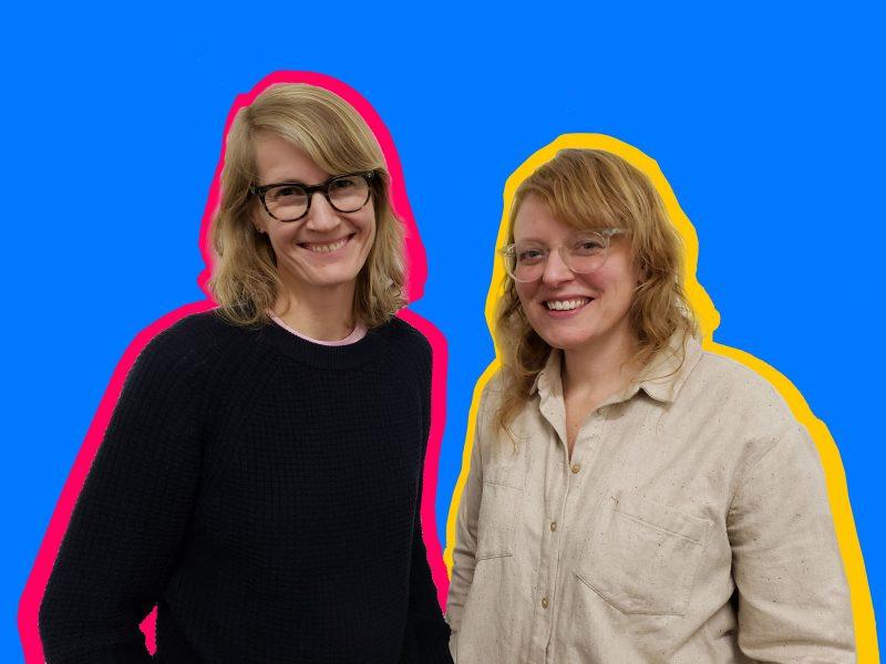 Kara Hearn (left) and Barb Smith (right). Photo courtesy Wit López, edited by Morgan Nitz.