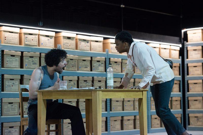 Anthony Martinez-Briggs as Feliks and Brett Ashley Robinson as Mariya in DESCRIBE THE NIGHT. Photo by Johanna Austin