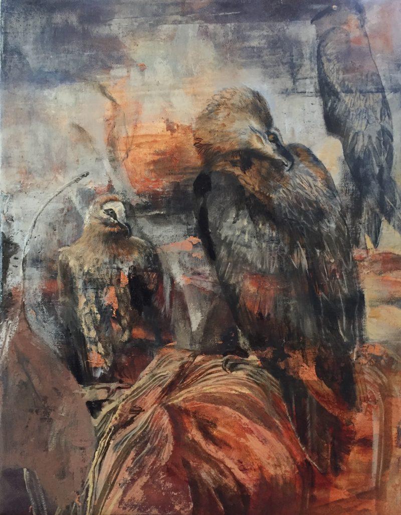 Painting of three birds
