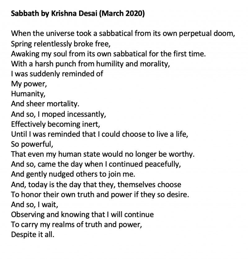 Screenshot of the poem.