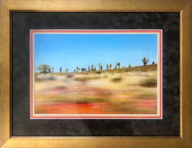 Meghan ONeil's artwork, framed.