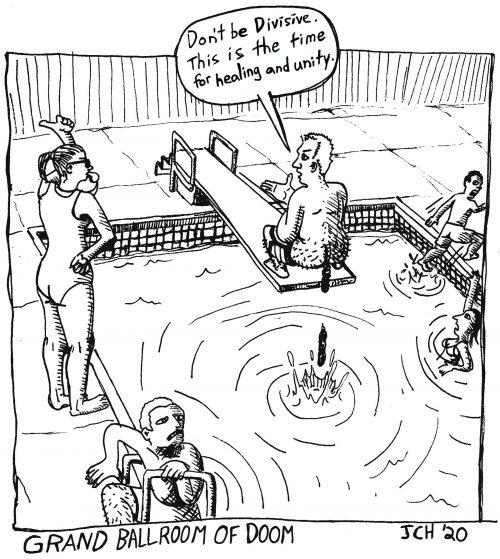 One panel comic from the series Grand Ballroom of Doom