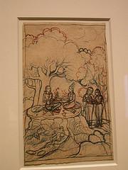 Laila visiting Majnun in the Wilderness
