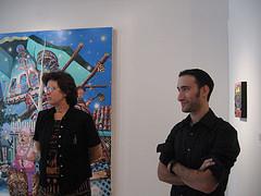 Weintraub and gallerist Helen Hyder