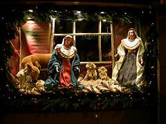 Nativity creche, left bank