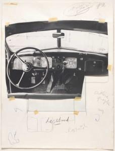 Claes Oldenburg study for unrealized portfolio, Walker Art Center