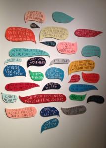 Wall of Speech Bubbles