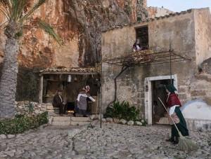 Part of the living presepio in Custonacci, Sicily