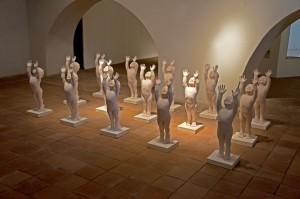 """""""L'esercito della speranza"""" (The Army of Hope)—one room of Orazio Coco's installation in Catania"""