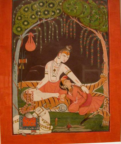 Shiva and Parvati at Night