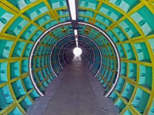 Anu Patel, Charleton Crescent Subway (a pedestrian underpass), part of A13 Artscape, courtesy Borough of Barking and Dagenham
