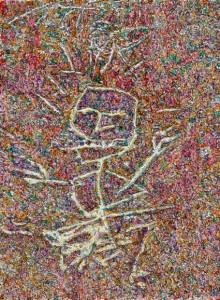 Alan Brooks  'Figure' (2008) oil on copper,  10 x 8 cm, © the artist, photo: MOT International