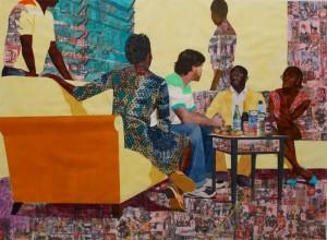 Recent work by Njideka Akunyili, Something Split and New, 2013.