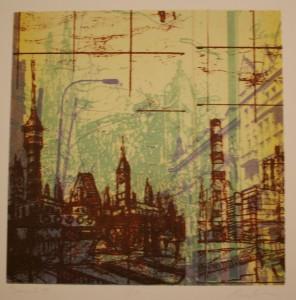 Alex Kirillov, Transit Series, Lithograph, 2012.