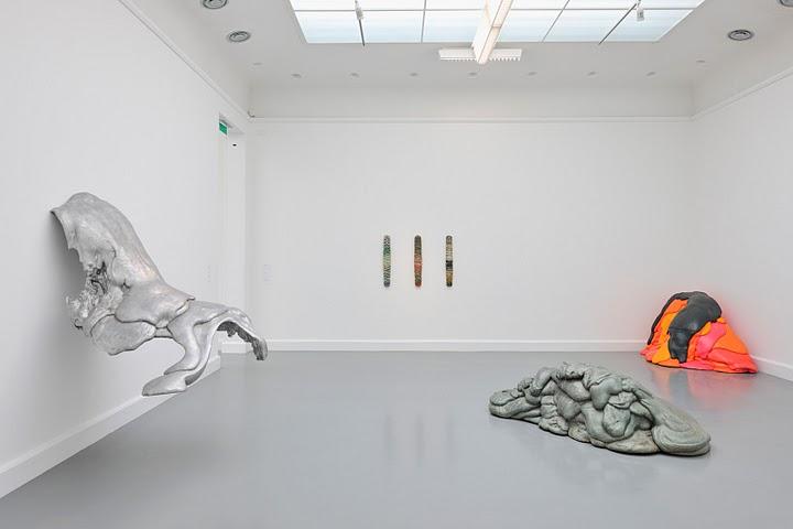 Installation of Benglis exhibition at Van Abbemuseum, 2009