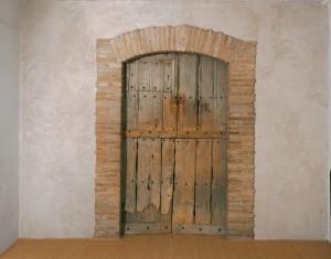 Marcel Duchamp, Étant donnés (1946-66) detail of exterior