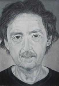 Diane Edison, Luis Cruz Azaceta, 2006 Color pencil on paper; 44 x 30 inches