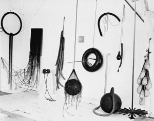 Eva Hesse's studio, 1965-66