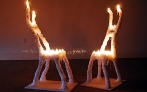 """Hongtao Zhou, """"Burniture."""" Wax, 2011."""