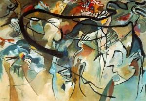 Caption: Composition V, Vasily Kandinsky, 1911.