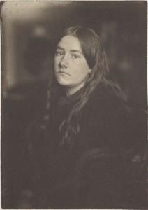 """Untitled (Portrait of Hermine Käsebier),"" ca. 1896, platinum, 7 x 5 in"
