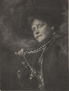 """Mrs. J. Montgomery Sears,"" 1903, gum bichromate, 8 x 6 in."