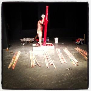 "Jeff Huckleberry- ""8th Rainbow"" performance shot"