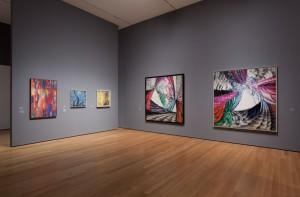 Caption: Series of František Kupka paintings. Photo Jonathan Muzikar.
