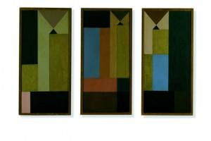 Caption: Untitled (Triptych), Sophie Taeuber-Arp, 1918. Photo courtesy Kunsthaus Zürich.