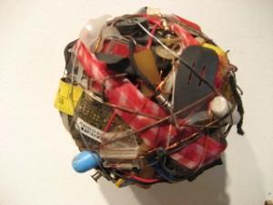 "Donald Edwards, ""Balls"" made of found objects. photo Matthew Crain."
