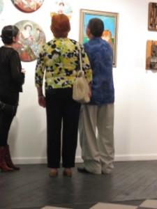 "artworks of Alison Silva, ""Inside My Garden Gate,"" oil on canvas, 16"" x16"". photo Matthew Crain."