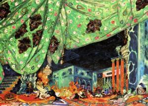 Léon Bakst variation on original set for 'Scheherazade'(after 1910) McNay Museum of Art
