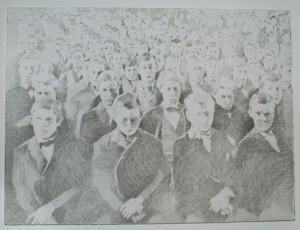 Sean Robert FitzGerald, Mass, 2012 Graphite on board, 18 x 24 1/4 inches.