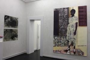 New work at , by Njideka-Akunyili.
