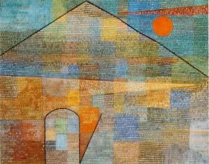 Paul Klee 'Ad Parnassum' (1932) oil & casein on canvas, Kunstmuseum, Bern