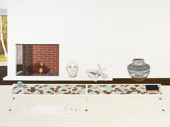 "Becky Suss, ""Living Room (Yogi 2)."" Image courtesy Fleisher/Ollman"