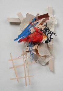 """Alexis Granwell  'Wax and Wane I' (2010)  16"""" x 11"""" x 5""""  mixed media  photo: Aaron Igler"""