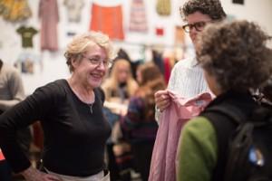 Martha Rosler and visitors photo: Scott Rudd