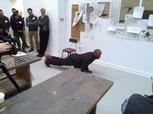 Theaster Gates doing a Jack Palance