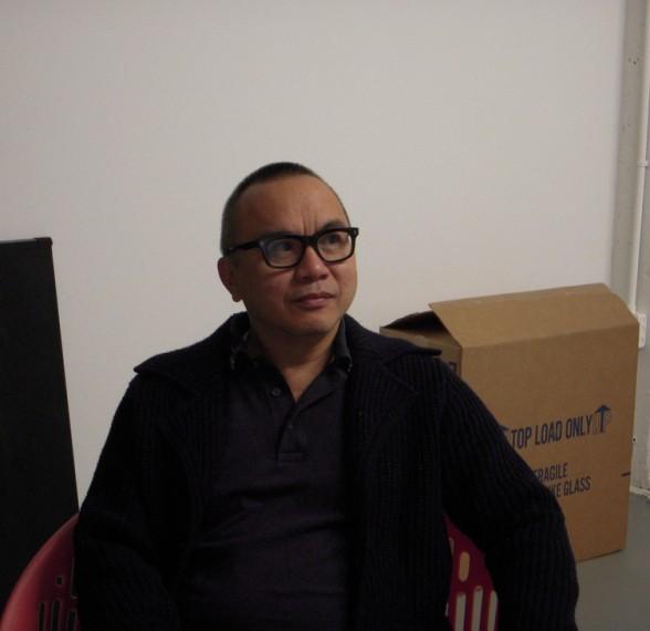 Ken Lum, speaking with us on Nov. 12 at his studio in Bella Vista