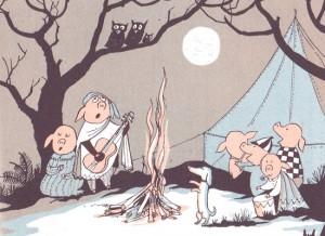 """Illustration from """"The Mellops Strike Oil"""" (1958)."""
