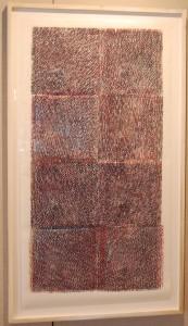 Samantha Dylan Mitchell, Pillar I, woodblock monoprint on Okawara, 54 x 27 in.
