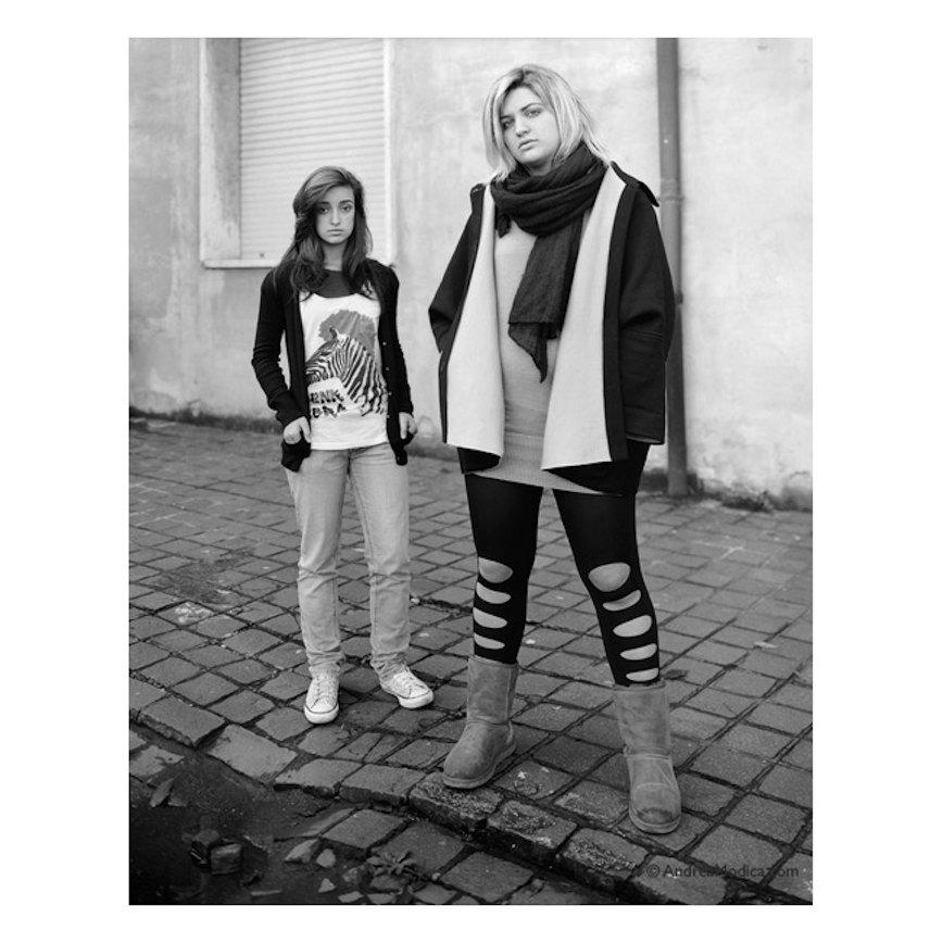"Andrea Modica, Best Friends, Scuola Venturi, Modena, Italy, 2010/2011, platinum/palladium contact print, 10x8"". Image courtesy of the artist's website."